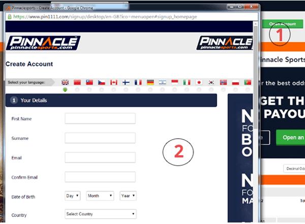 Как да си направиш регистрация в Pinnacle